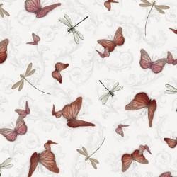 La Vie En Rose - Butterflies & Dragonflies Gray