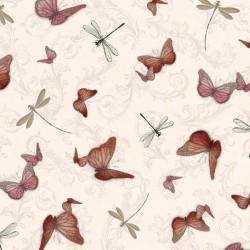 La Vie En Rose - Butterflies & Dragonflies Pink