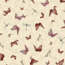 La Vie En Rose - Butterflies & Dragonflies Tan