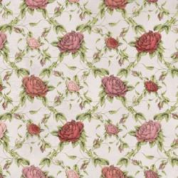 La Vie En Rose - Rose Trellis Gray