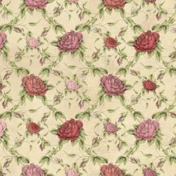 La Vie En Rose - Rose Trellis Tan