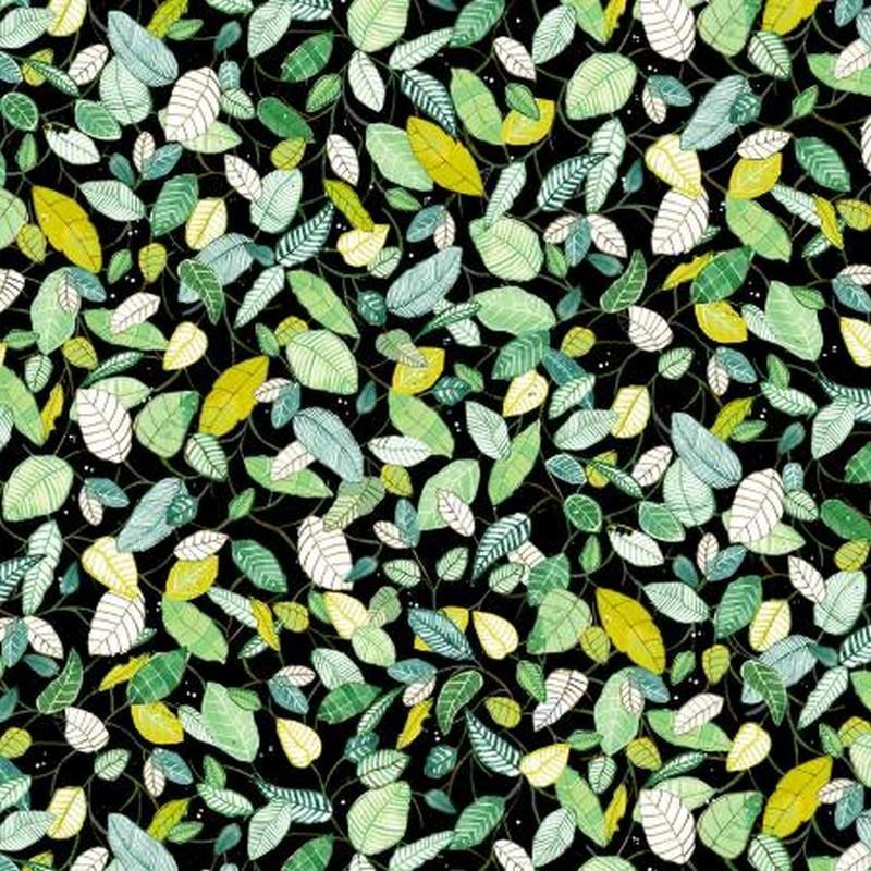 Fantasy Garden - Black Leaves