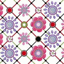 Lazy Little Ladybugs - Flower Diagonal Grid
