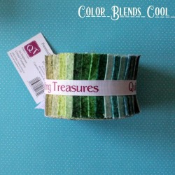 """Color Blends Cool - Strips 2.5"""" Jelly Roll"""