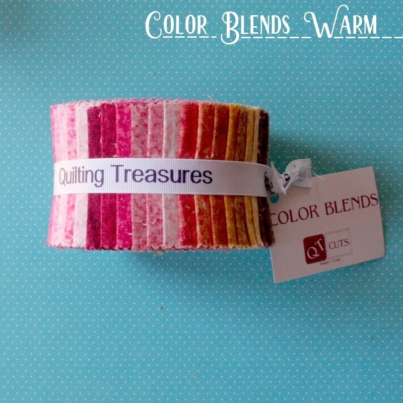 """Color Blends Warm - Strips 2.5"""" Jelly Roll"""