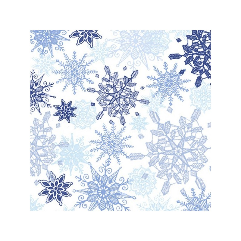 Winter Frost - Snowflakes Blue