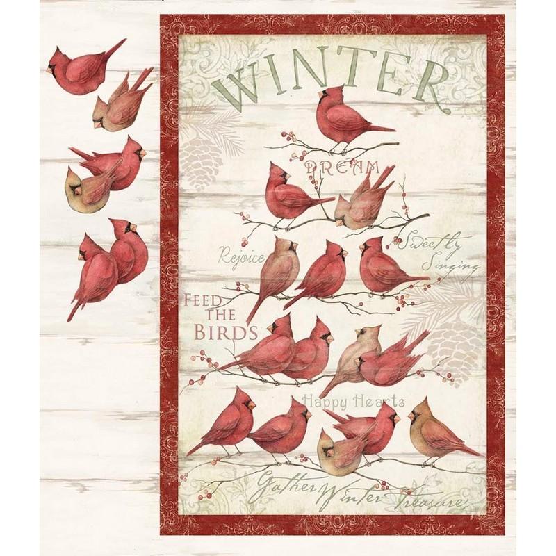 Cardinal Winter - Panel