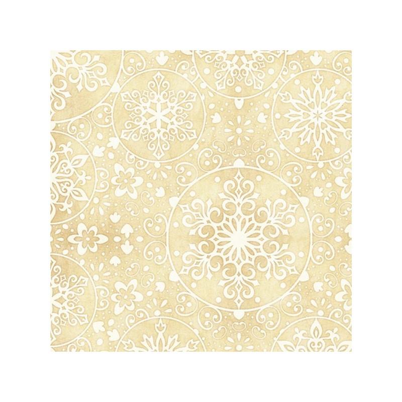 Snowflake Medallions - Buttercream
