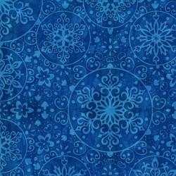 Snowflake Medallions - Blue