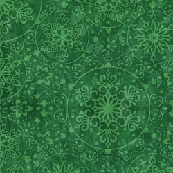 Snowflake Medallions - Green