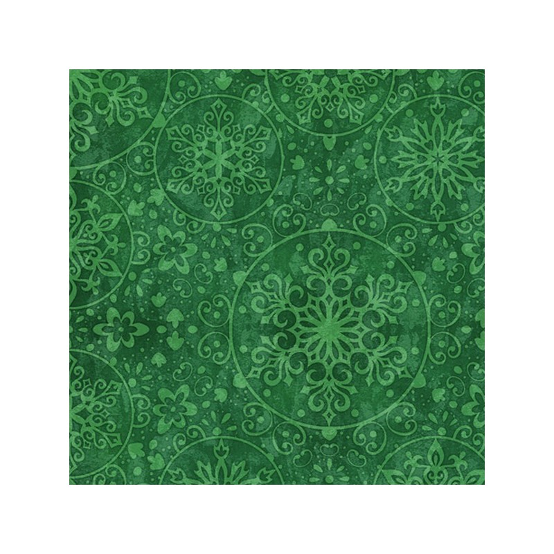 Snowflake Medallions - Green