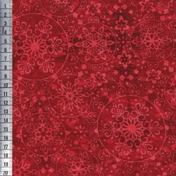 Snowflake Medallions - Red