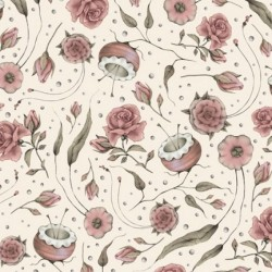 Curiosity - Floral Ecru
