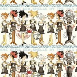 She Sews Sea Shells - Stripes