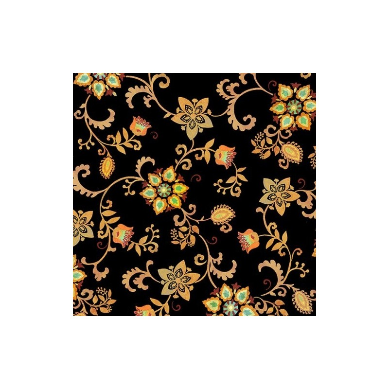 Mozambique - Floral Scroll