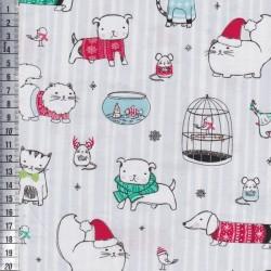Mingle & Jingle - Christams Animals Grey