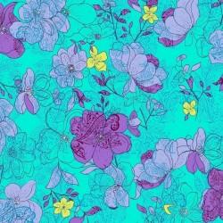Hayden - Floral Aqua