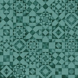 Seamless - Quilt Blocks Teal