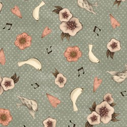 Lost Song - Flower & Dove Teal