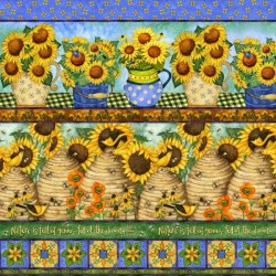 Sunny Blossom - pruhy 1/2 panel