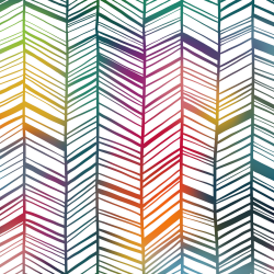Rainbow Garden - Chevron Big*