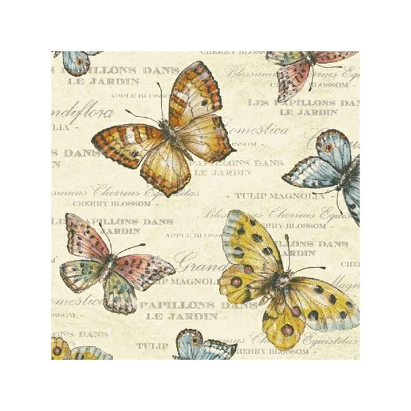 Papillon - Cream Butterflies