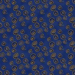 Feline Frolic - Swirls Navy
