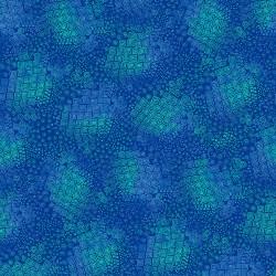 Feline Frolic - Geo Blue