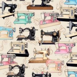 Thimble Pleasures - Sewing Machines Cream