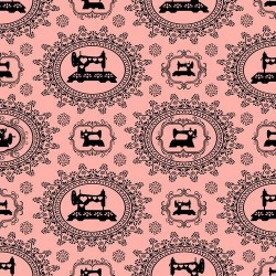 Thimble Pleasures - Sewing Damask Pink