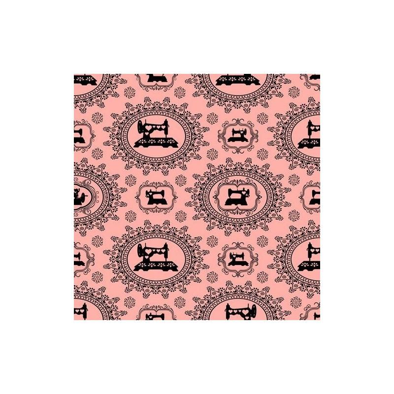 Thimble Pleasures - Sewing Damask Pink