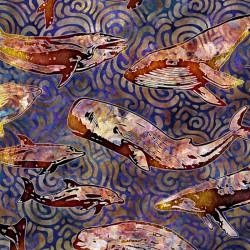 Aquatica - Whales Purple