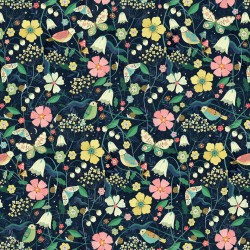 Hedgerow - Birds & Flowers